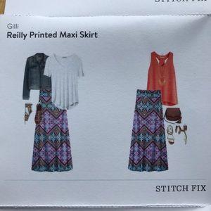 Gilli Reilly Printed Maxi Skirt (Stitchfix)